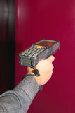 Handheld Barcode Scanner Stock Image