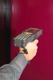 Handheld Barcodebildläsare Fotografering för Bildbyråer