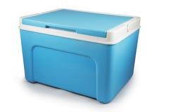 Handheld blue refrigerator isolated Stock Image