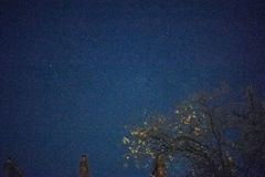 Handheld camera shot at 20000 iso. Example of night starry sky taken with performance camera handheld at 20000 iso Royalty Free Stock Photo