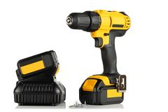 Handheld cordless power drill Stock Photography