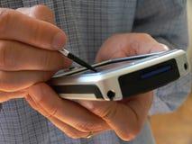 handheld dator Royaltyfri Foto