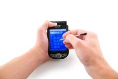 handheld dator royaltyfri fotografi