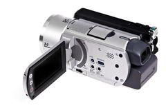 Handheld digital camcorder Royalty Free Stock Photos