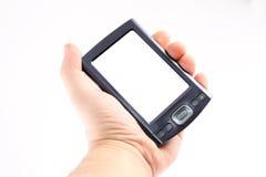 Handheld em uma mão fotos de stock royalty free