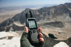 Handheld GPS Royalty Free Stock Photo