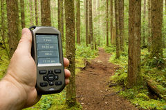 Handheld GPS Stock Photo