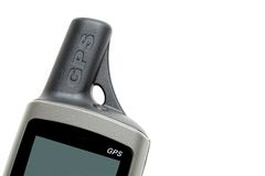 Handheld GPS unit royalty free stock photo