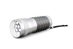 Handheld led flashlight. 3d rendering. Royalty Free Stock Photography