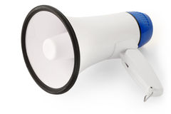 Handheld megaphone on white Stock Images