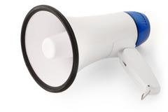 Handheld megaphone on white. Background, as used in public speaking stock illustration