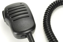 Handheld microphone for walkie-talkie isolated on a white background Stock Photography