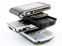 handheld mobila moderna pdatelefoner för cell Arkivfoton
