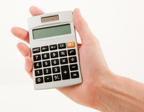 Handheld Modern Calculator Stock Image
