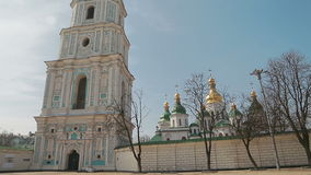 Handheld shot of Saint Sophia Cathedral stock video