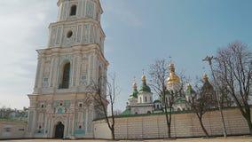 Handheld shot of Saint Sophia Cathedral stock video
