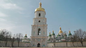 Handheld shot of Saint Sophia Cathedral stock video footage