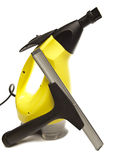 Handheld steam cleaner and brush nozzle Royalty Free Stock Photography