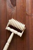 Handheld Wooden Massager Stock Image