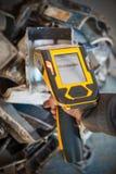 Handheld XRF analyzer spectrometer for scrap metal Royalty Free Stock Photography