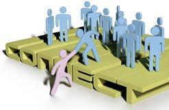 Handhilfe schließen bis sich anschließen Leutegruppe an Lizenzfreie Stockbilder