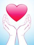 handhjärtaholding royaltyfri illustrationer