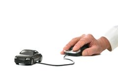 Handholding   Auto Lizenzfreies Stockfoto