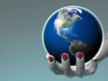 Handholding Erde - Amerika vektor abbildung