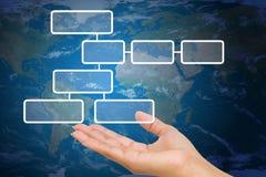 Handholding-Flussdiagramm-Diagramm Lizenzfreie Stockfotos