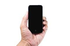 Handholding Handy auf Isolat Lizenzfreie Stockbilder