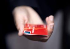Handholding Kreditkarte Stockbilder