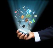 Handholding-Magietelefon Lizenzfreies Stockbild