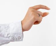 handholding s något kvinna Arkivfoton