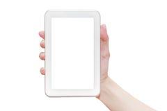 Handholding Tablette PC lizenzfreies stockbild