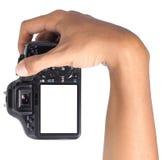 Handholdingkamera lizenzfreie stockbilder
