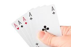 Handholdingkarten Lizenzfreie Stockfotografie