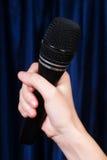 Handholdingmikrofon Stockfoto