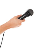 Handholdingmikrofon Stockfotos