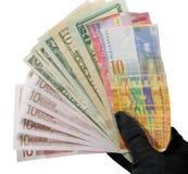 handholdingpengar arkivfoton