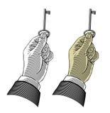 Handholdingtaste Stockbild
