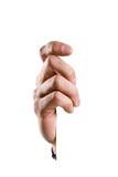 handholdingtecken Arkivfoto