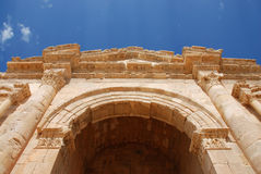 Arch of Hadrian in Jerash. Ancient roman city in Jordan Stock Images