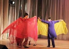 Handicapés dansant sur l'étape Images libres de droits