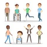 Handicapés réglés illustration stock