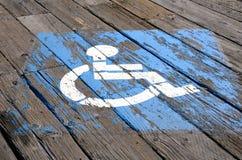 handicap стоянка автомобилей Стоковая Фотография RF