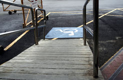 Handicap Access. A ramp for handicap access Stock Image
