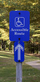 Handicap access sign Royalty Free Stock Image