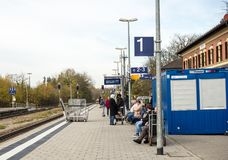 Handicap access in trains Royalty Free Stock Image
