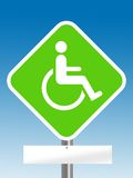 Handicap area with blank board Stock Images