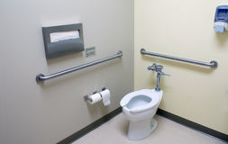 Handicap Bathroom. The inside of a large handicap accesable bathroom stock photos